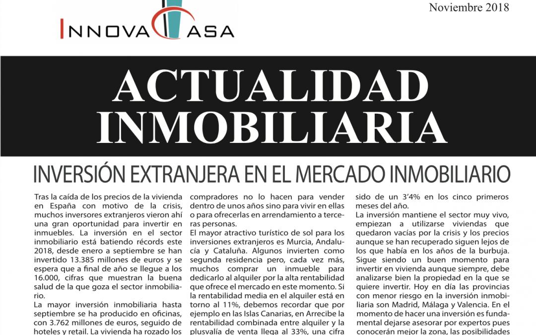 Revista de actualidad inmobiliaria de noviembre de 2018