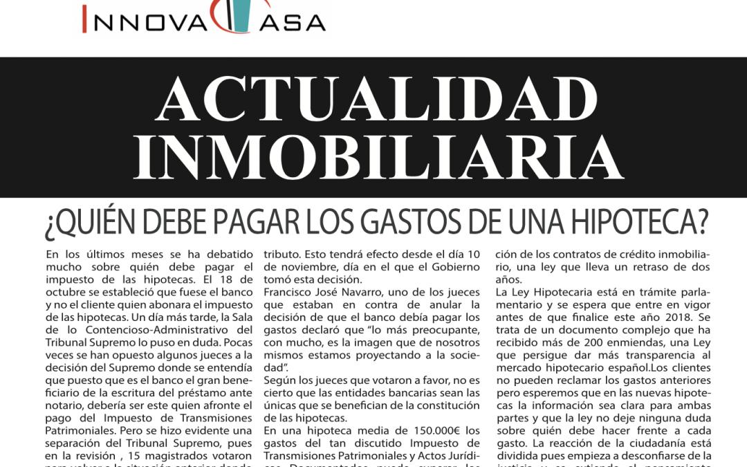 Revista de actualidad inmobiliaria de diciembre de 2018