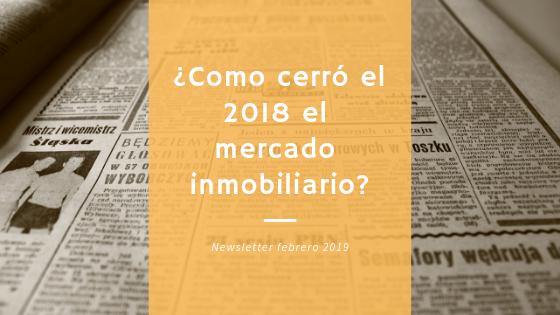 Newsletter inmobiliaria de febrero de 2019