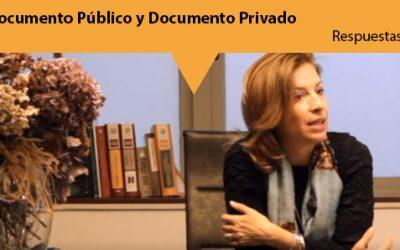 Sección respuestas: Documento público y documento privado